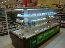 环形蔬菜水果保鲜展示柜,新疆超市冷藏保鲜柜,环形超市岛柜